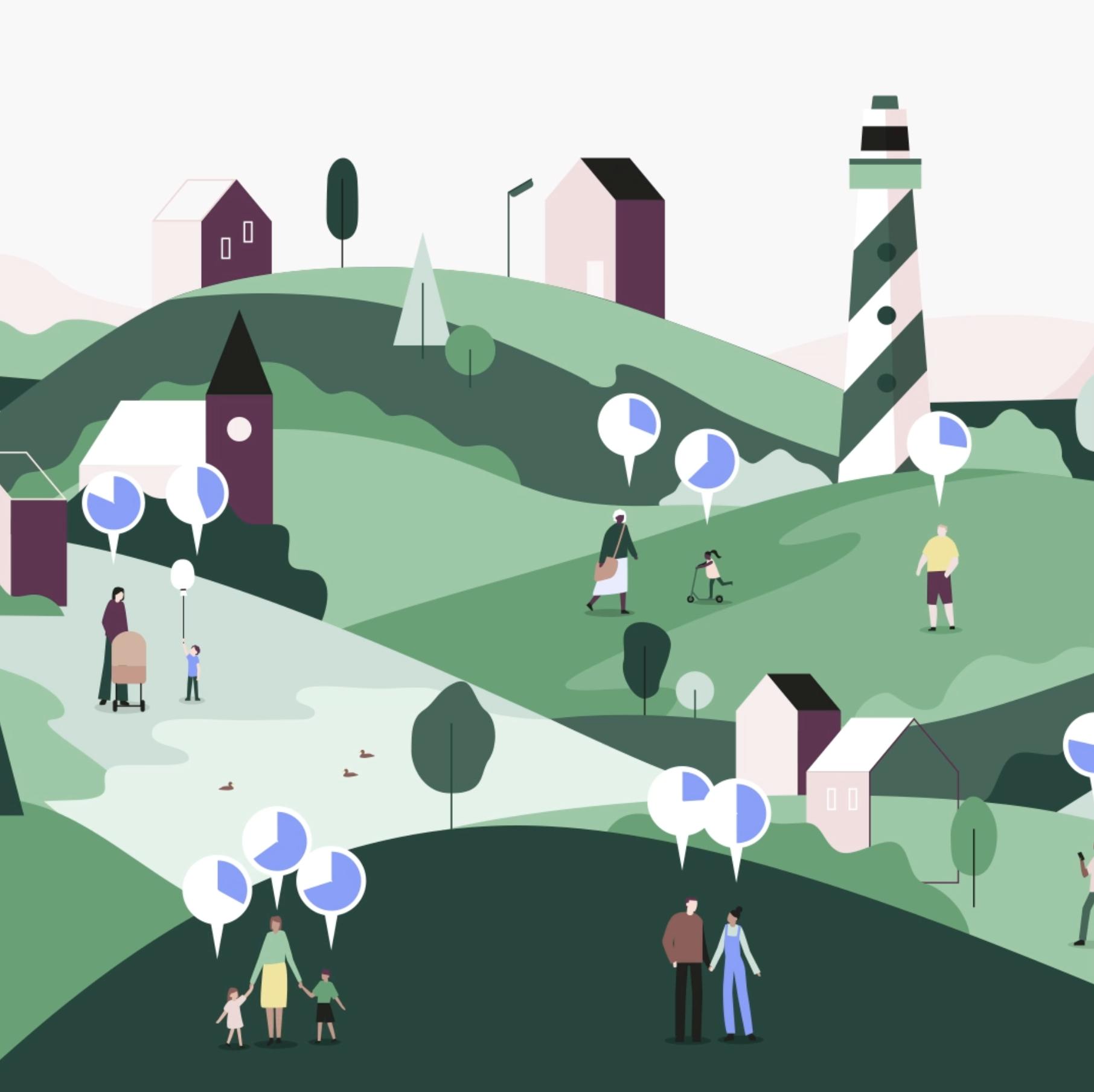 Just Transition animatie hills